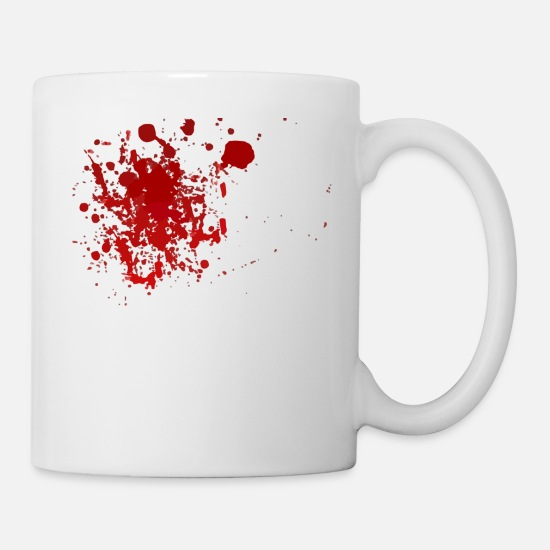 Blood Splatter Mugs & Drinkware - Blood Splatter Halloween - Mug white