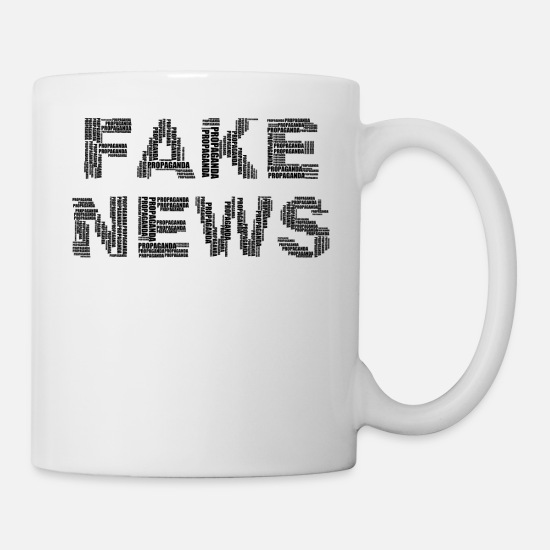 Typography Mugs & Drinkware - fake news - Mug white