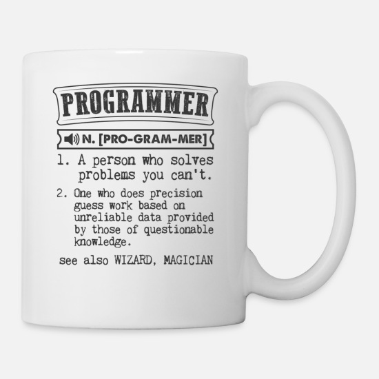 Programmer Definition Gift Mug Mugs & Drinkware - Programmer Definition Gift Mug - Mug white
