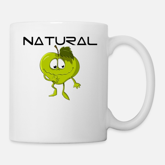Eco Mugs & Drinkware - Natural Apple Eco Bio - Mug white