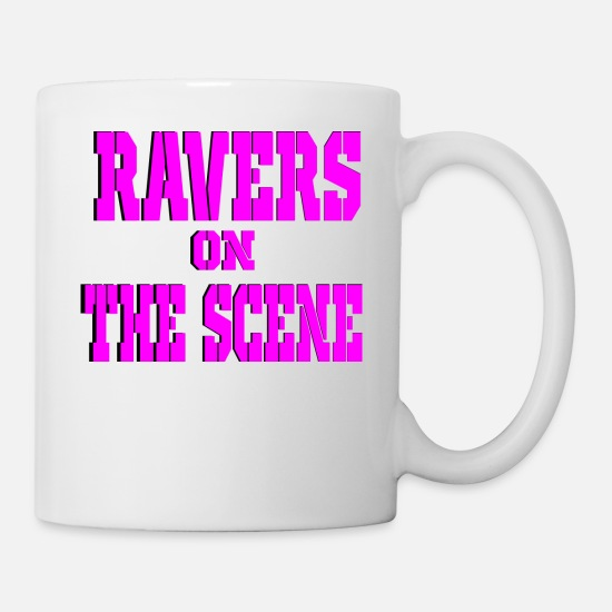 Loud Mugs & Drinkware - ravers on the scene - Mug white