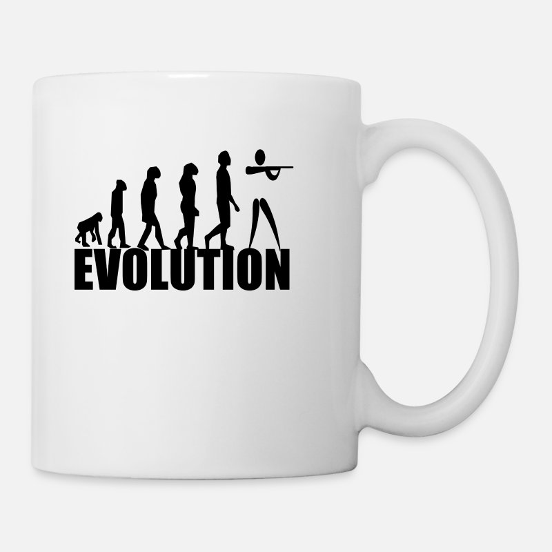 Shooting Mugs & Drinkware - evolution - Mug white