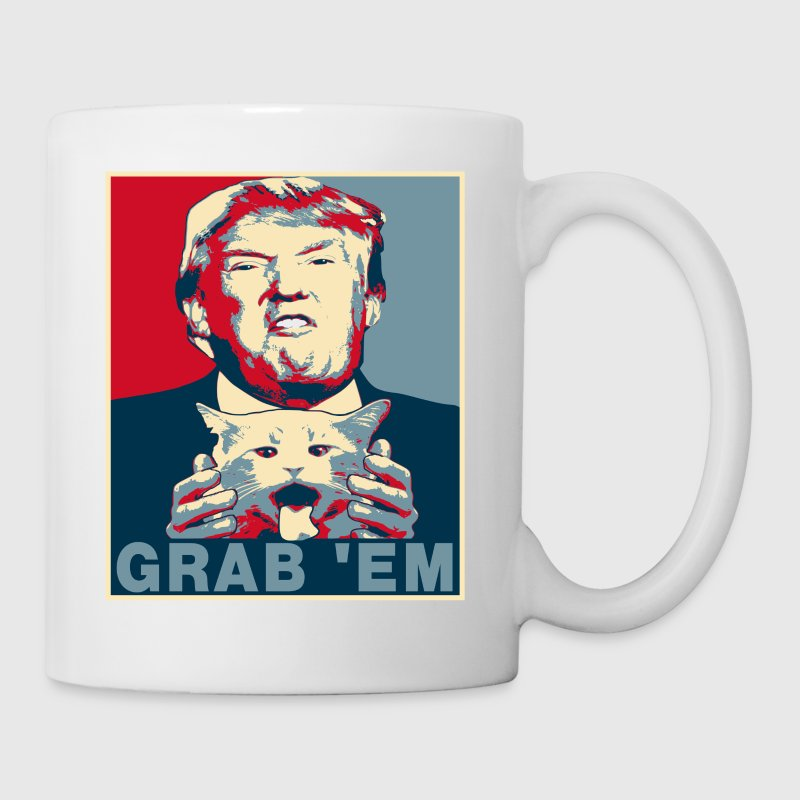 Trump Grab Em Cat Poster - Coffee/Tea Mug