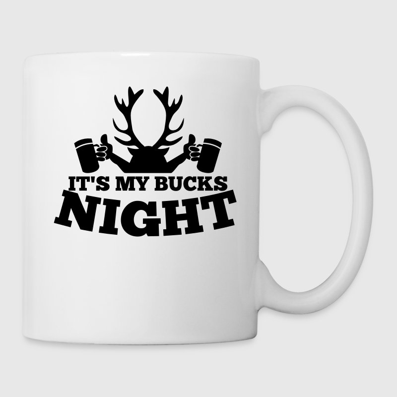 IT'S MY BUCKS NIGHT with antlers stag holding beers - Coffee/Tea Mug