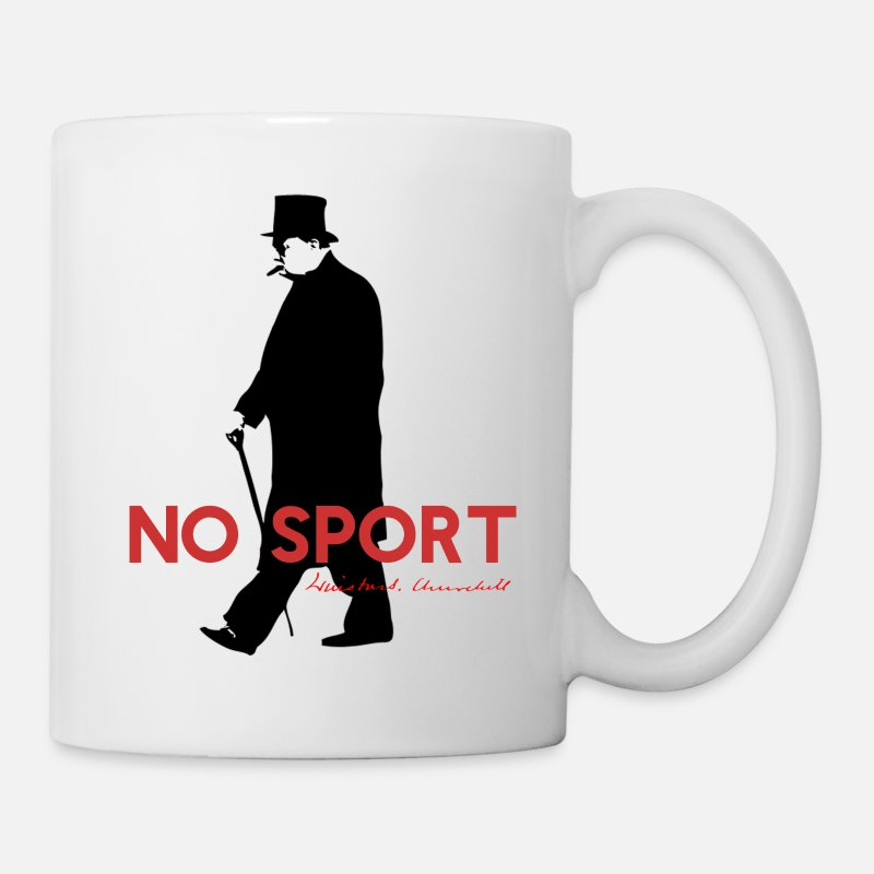 Winston Churchill Mugs & Drinkware - Winston Churchill, No Sport Design - Mug white