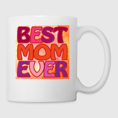 Best Mon Ever FabSpark Colorful  with background - Coffee/Tea Mug