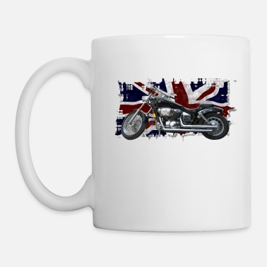 British-flag &amp UNION JACK FLAG & MOTORBIKE - Mug
