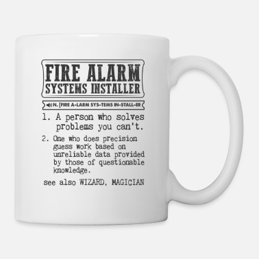 Technician Fire Alarm Systems Installer Definition Gift Mug - Coffee/Tea Mug