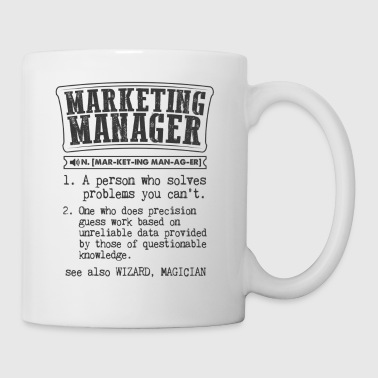 Manager Marketing Manager Definition Gift Mug - Coffee/Tea Mug