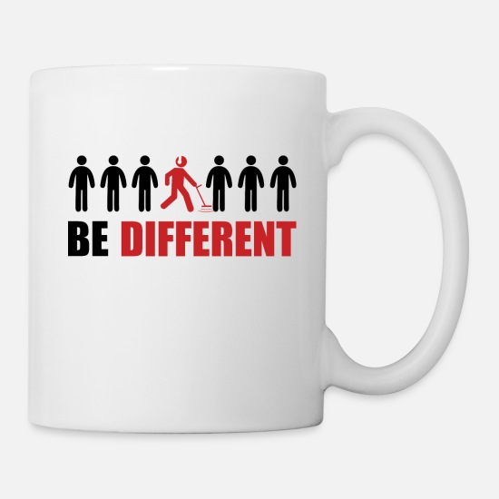 Rush Mugs & Drinkware - Gold Detecting - Be Different T-Shirt Gift Idea - Mug white
