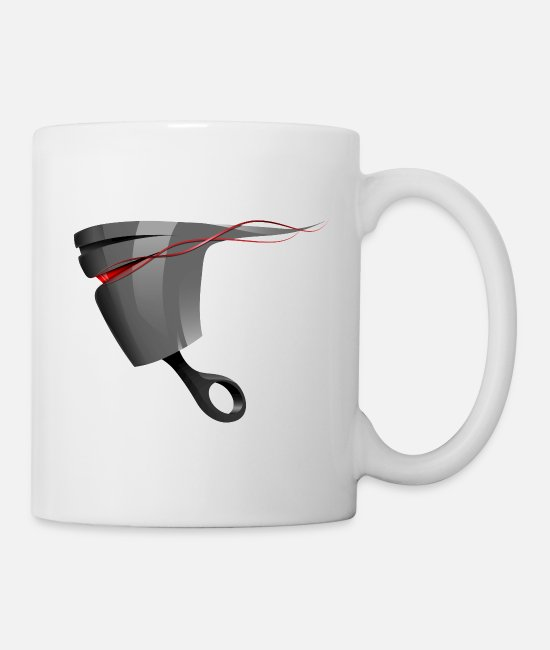 Auto Mugs & Cups - Piston - Mug white