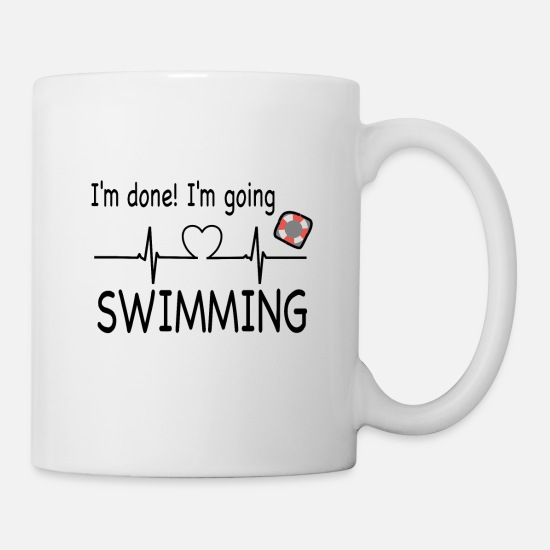 Lifeguard Mugs & Drinkware - I Go Swimming - Mug white