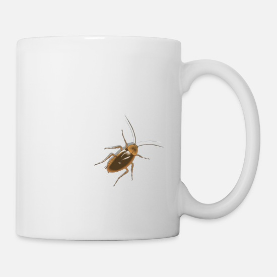 Birthday Mugs & Drinkware - Cock Roach Insect - super cool - super disgusting - Mug white