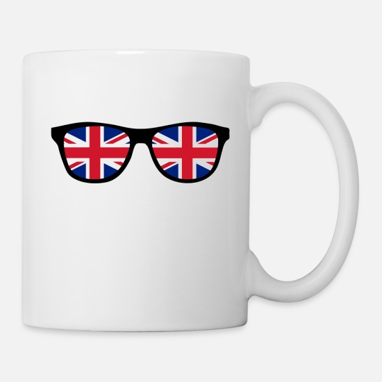 Escape Mugs & Drinkware - Glasses with Union Jack - BREXIT - England - Mug white