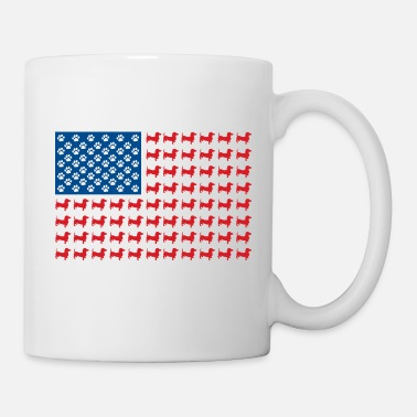 Weiner Doxie-USA-FLAG-for-Darks - Mug