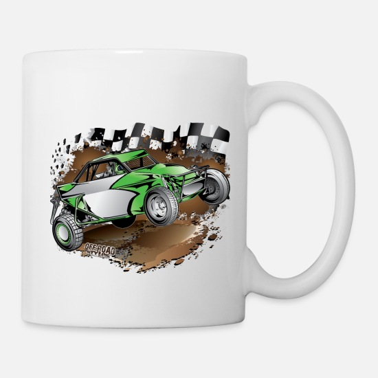Buggy Mugs & Drinkware - Limited Buggy Green - Mug white