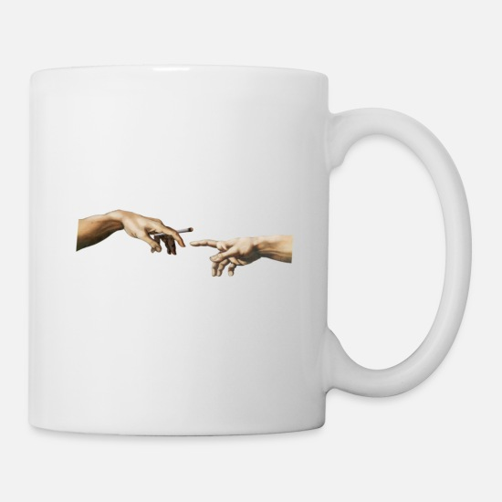 Joint Mugs & Drinkware - Joint pass The Creation - Mug white