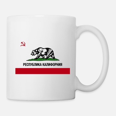 CALIFORNIA REPUBLIC Flag | Russian Cyrillic - Coffee/Tea Mug