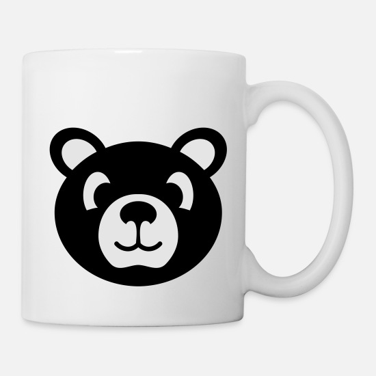 Grizzly Mugs & Drinkware - bear stuffed animal for kids - Mug white