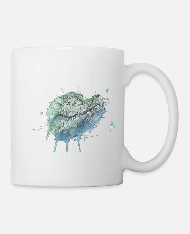 Dinosaurs Mugs & Cups - Crocodile - Mug white