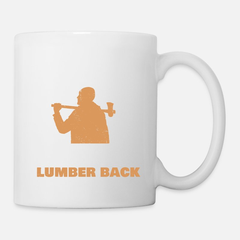 Funny Mugs & Drinkware - Lumber Jack Beard Feller Lumberman Gift Idea - Mug white