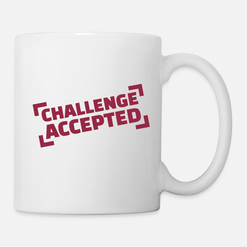 Fun Mugs & Drinkware - Challenge accepted - Mug white