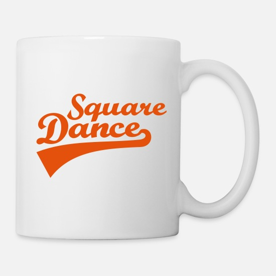Square Mugs & Drinkware - Square dance - Mug white