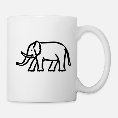 Drawing elephant - Mug