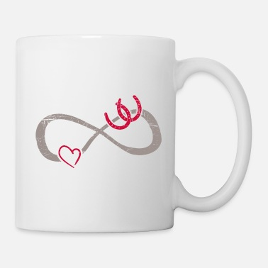 Love True Infinite Love ∞ Horse Shoes ∞ I Love Horses - Mug
