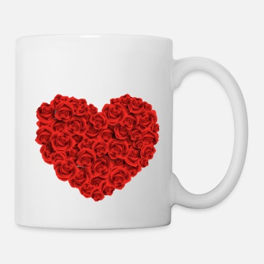 HEART FILLED WITH ROSES - Mug