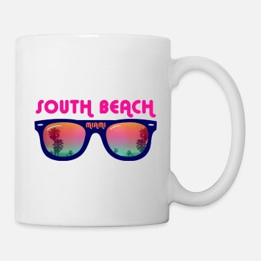 Beach South Beach Miami sunglasses - Coffee/Tea Mug