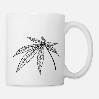 Ganja Leaf Digitate leaf - Mug