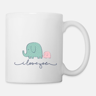 i love you elephants - Coffee/Tea Mug