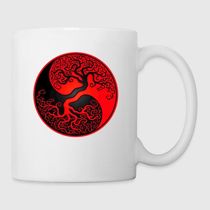 Red and Black Tree of Life Yin Yang - Coffee/Tea Mug