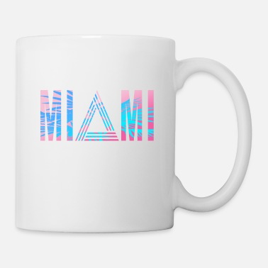 Palm Trees Miami 80s - Mug