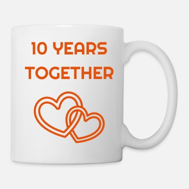 Anniversary Marriage Mariage Wedding Anniversary 10 Tin - Coffee/Tea Mug