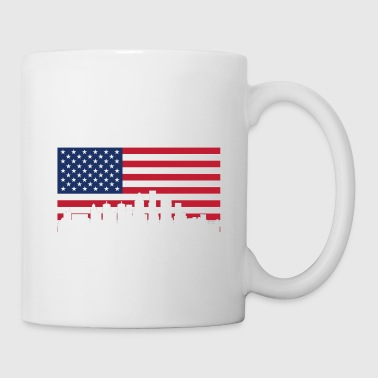 American Flag Louisville Skyline - Coffee/Tea Mug