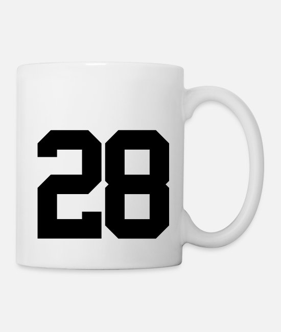Personalize Mugs & Cups - Number 28 - Mug white