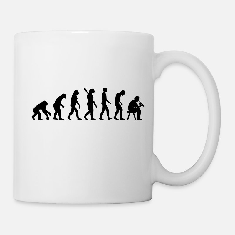 Evolution Mugs & Drinkware - Tattoo artist evolution - Mug white