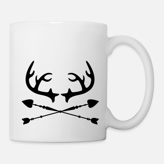 Best Friends Mugs & Drinkware - Antlers & Arrows - Vintage, Hipster, Style - Mug white