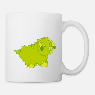 Cute green dogs wants home - Coffee/Tea Mug