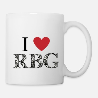 Truth I love RBG lace monogram - Mug