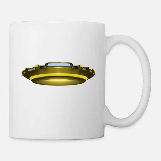 Nasa Mugs & Drinkware - rakete rocket space shuttle ufo raumschiff mond mo - Mug white