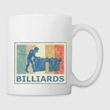 Retro Vintage Style Pool Billiard Player Snooker - Coffee/Tea Mug