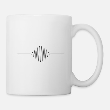 High Frequency Music frequency line in black - Mug