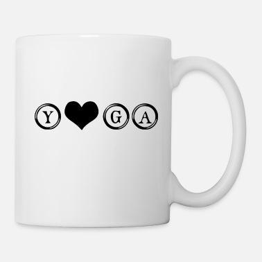 Love yoga word - Coffee/Tea Mug