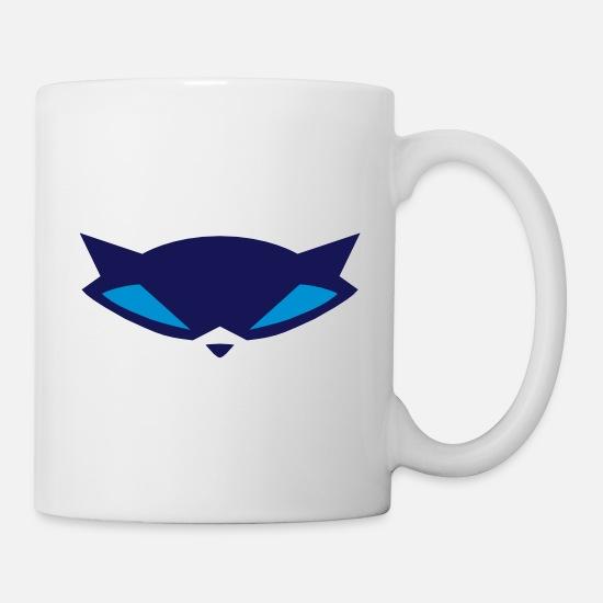 Raccoon Mask Coffee/Tea Mug - white