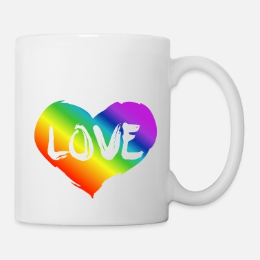 Csd Lgbt rainbow heart - love - Mug