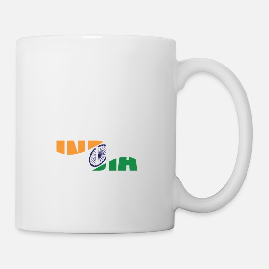 India Mugs & Drinkware - country India - Mug white