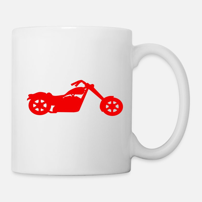 Chopper Mugs & Drinkware - chopper low rider vector - Mug white